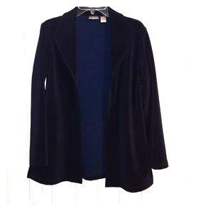 Chicos open blazer size 1 blue